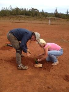 Katleen & Scott Planting Trees